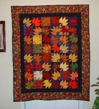 Maple Leaf Quilt Block Pattern (October Block of the Month)