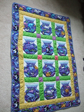 Fish Bowl Quilt Pattern Lena Patterns